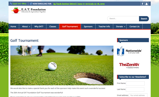 E.A.T. Foundation Info Page - Annual Golf Tournament