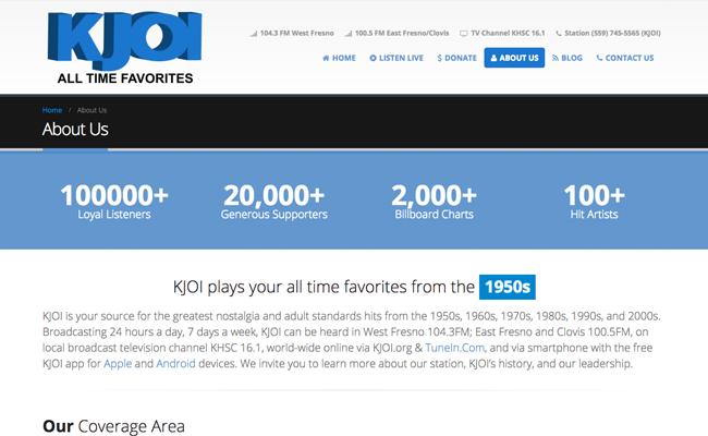 KJOI Radio - Info Page