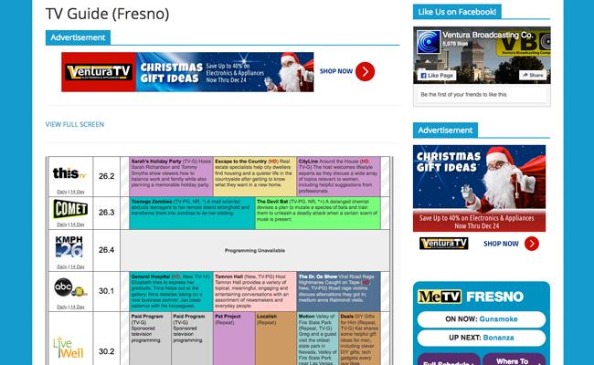Ventura Broadcasting Company - TV Guide Page