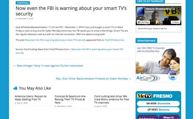 Ventura Broadcasting Company - Auto Blog News Article Page