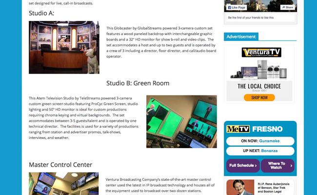 Ventura Broadcasting Company - Info Page - Facilities