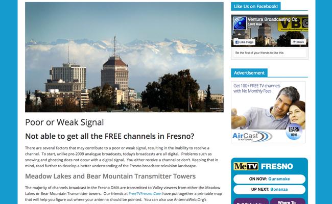 Ventura Broadcasting Company - Info Page - Help