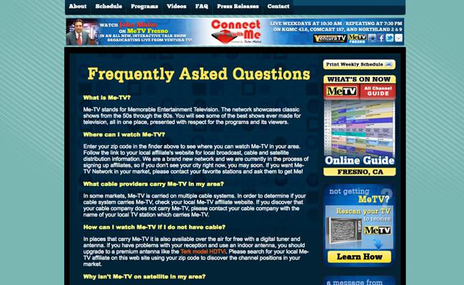 MeTV Fresno - Info Page