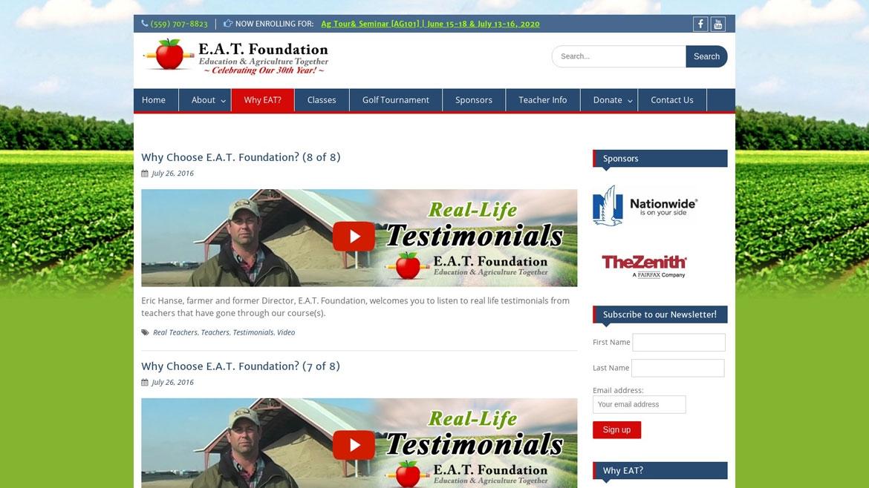 E.A.T. Foundation YouTube Integraton