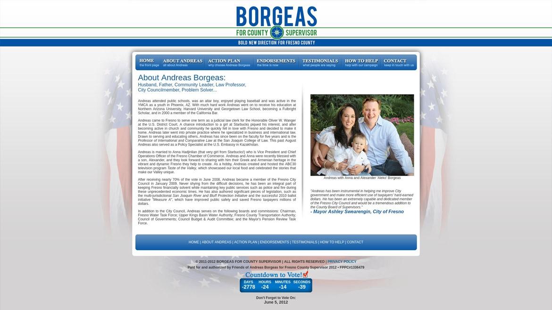 BorgeasForSupervisor.Com - About