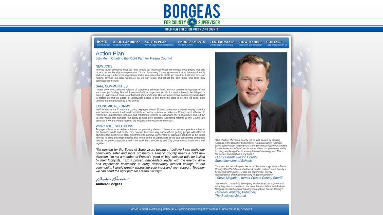 BorgeasForSupervisor.Com - Action Plan