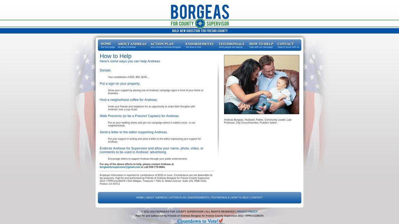 BorgeasForSupervisor.Com - How to Help