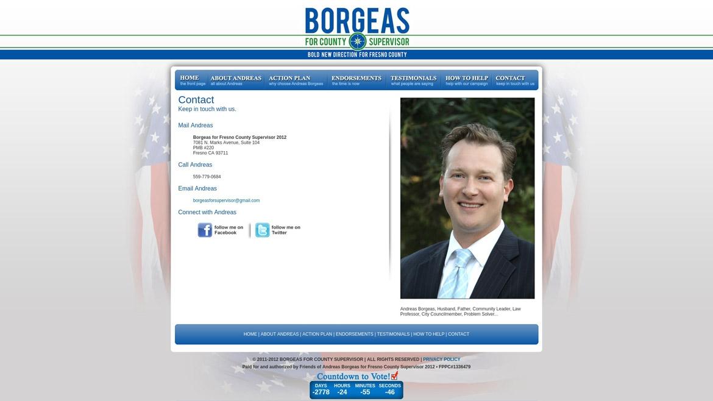 BorgeasForSupervisor.Com - Contact