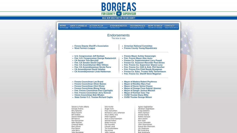 BorgeasForSupervisor.Com - Endorsements