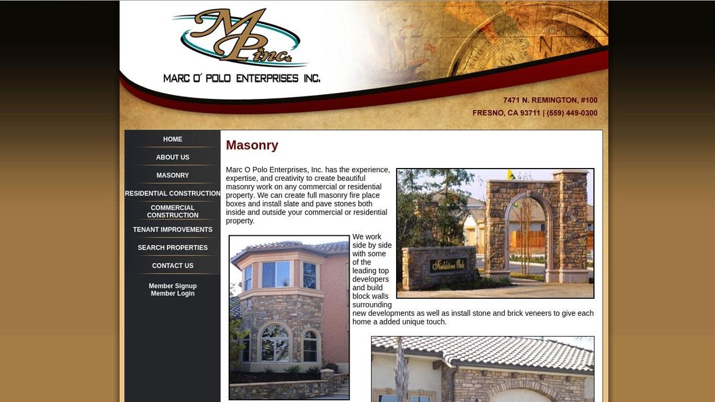 MarcOPoloEnt.Com - Info Page
