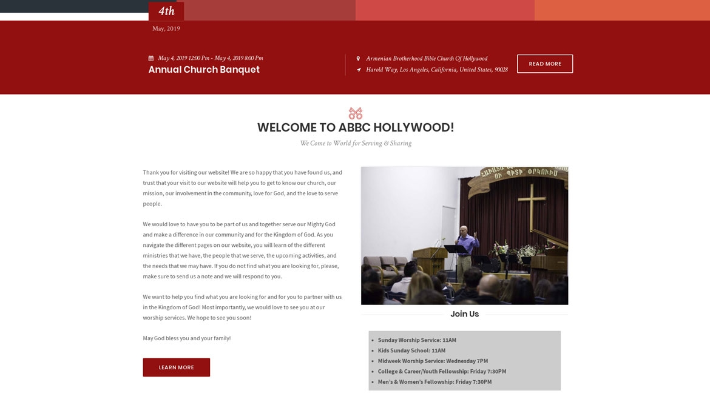 ABBCHollywood.org - Homepage 2