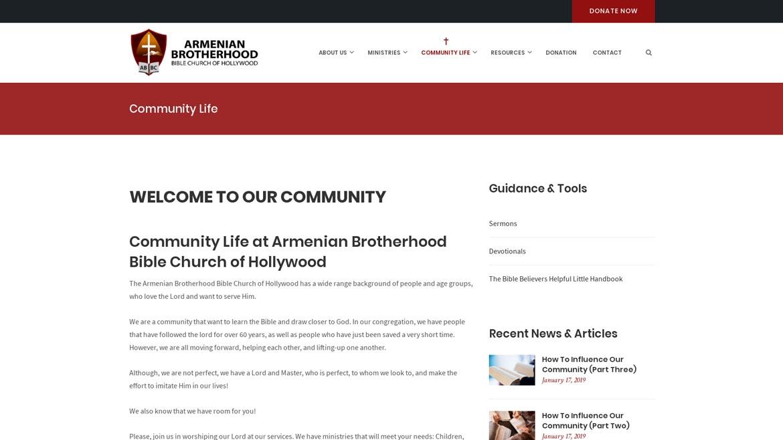 ABBCHollywood.org - Community Life