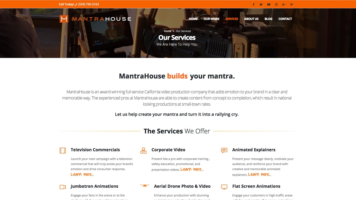 MantraHouse - Services Overview Page